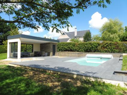 Habitat 65 neuf realisation d 39 un pool house et renovation de la piscine - Photos pool house piscine ...